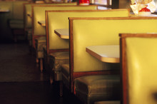 Empty Booths At Majestic Diner...