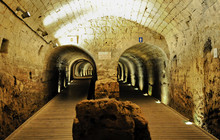 Templer-Tunnel Acco, Akko, Acre, Israel, Naher Osten, Vorderasien.