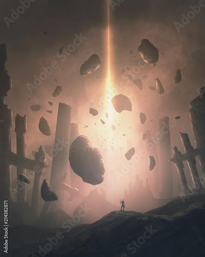 Destruction from above Slika na platnu