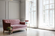 White Room With Pink Sofa-bed,...