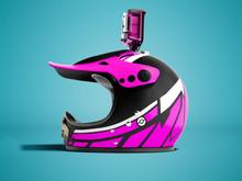 Modern Pink Motorcycle Helmet ...