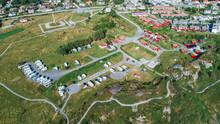Aerial View Of Camping Site Near Haugesund, Norway.