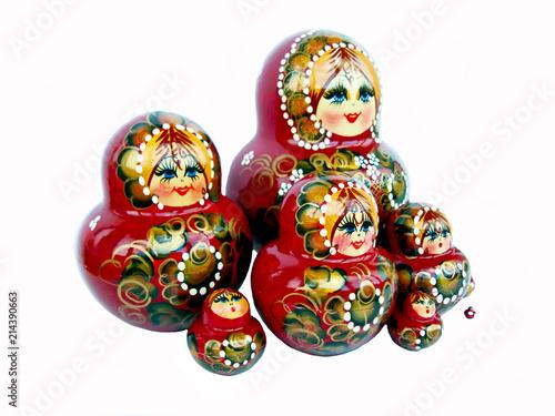 Photographie  Wooden doll matryoshka russian souvenir.