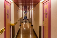 Corridor With Cabins On The Fe...