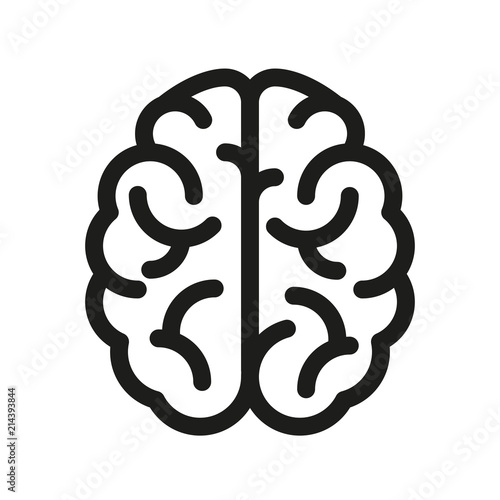 Human brain icon - vector Fototapete