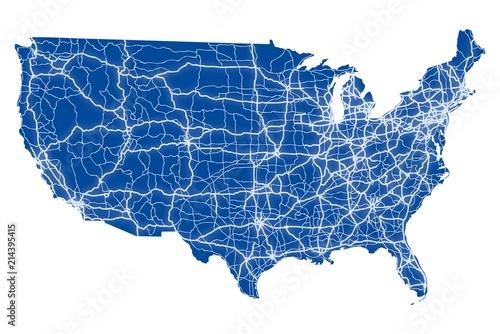 Photo  Usa road map