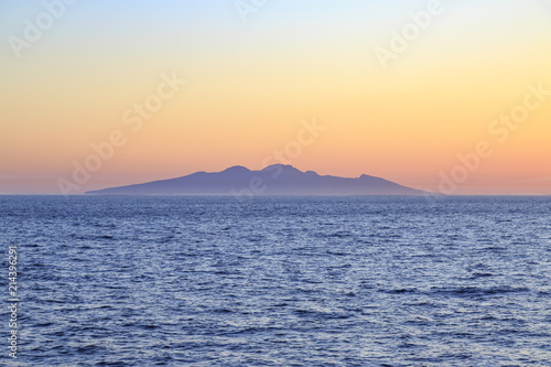 Fotografie, Obraz  Entire Symi island view from distance during sunset in aegean sea near Symi, Dod