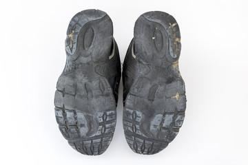 擦り減った靴の裏