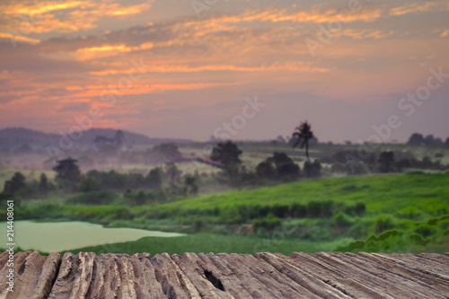 Spoed Foto op Canvas Zalm Agricultural landscape in First Dairy Farm during sunset.