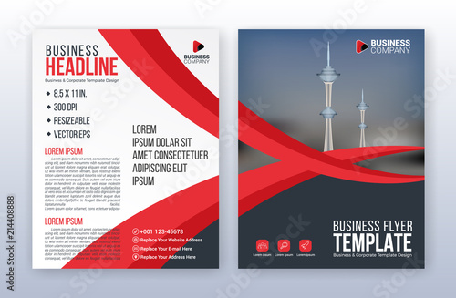 Modern Business Flyer Template Annual Report Background 85 X 11 Inches Print Media