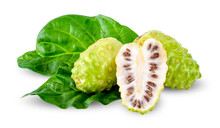 Noni Fruit Isolated On White C...