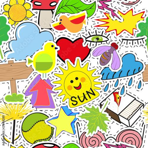 bezszwowy-wzor-od-majcherow-na-lato-temacie-recznie-rysowane-zestaw-jasne-kolorowe