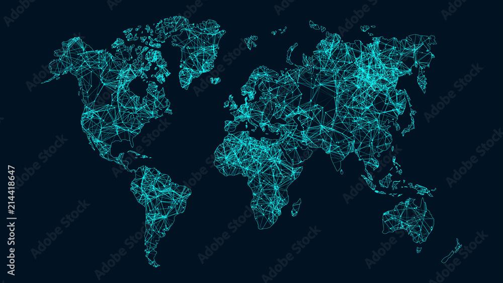 Fototapety, obrazy: Technology network.