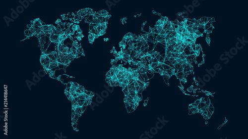 Obraz Technology network. - fototapety do salonu