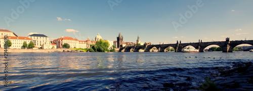 Plakat Most Karola w Pradze, jedna z najstarszych zachowanych przepraw rzecznych w Europie i na Świecie