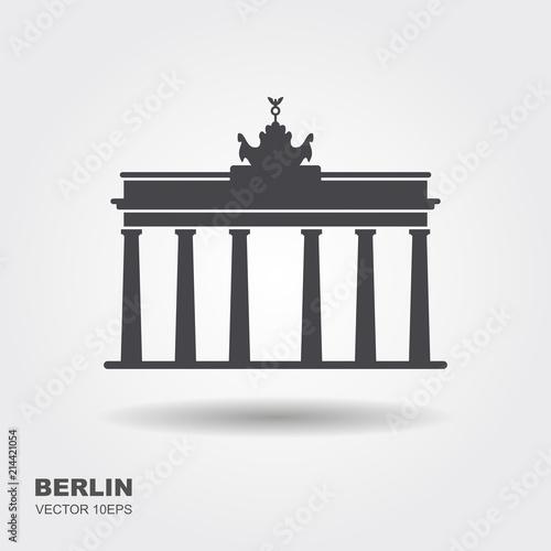 Fototapeta premium Ikona Brama Brandenburska Berlin Building Travel