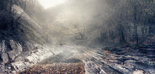 Fotomural Излучина горной реки Джанет в районе курортного города Геленджик, Краснодарский