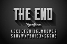 Retro Style Condensed Font, The End Title