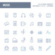 Music & Instrument Minimal Vector Icon Set (EPS 10)
