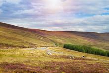 Beautiful Mountain Scenery, Landscape.  Wicklow Mountains National Park, County Wicklow, Ireland