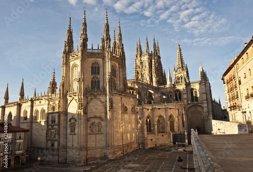 Kathedrale Santa María, Fassade beim Portal de la Coronería o de los Apóstoles, Burgos, Kastilien, Station auf dem Jakobsweg, Camino de Santiago