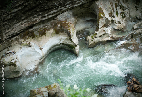 Canvas Prints Forest river The Breitachklamm gorge. Allgäu, Bavaria region, Germany