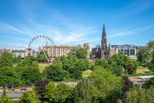 Skyline Of Edinburgh And Princ...
