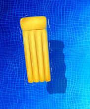 Illustration Of Yellow Pool Raft