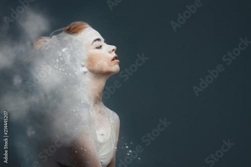 Fototapeta  Dancing in flour concept
