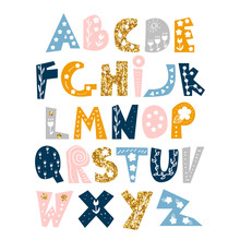 Cute Alphabet With Floral And ...