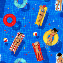 Seamless Pattern With Swimming...