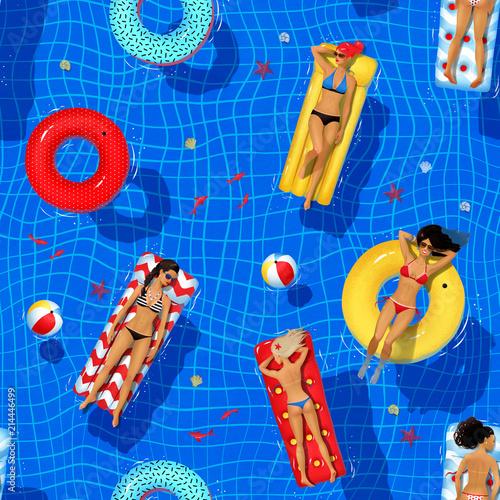 bezszwowy-wzor-z-plywacka-basen-ilustracja