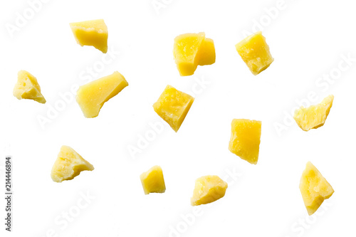 shredded parmesan cheese isolated