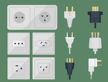 Electric Plugs Stack Outlet Il...