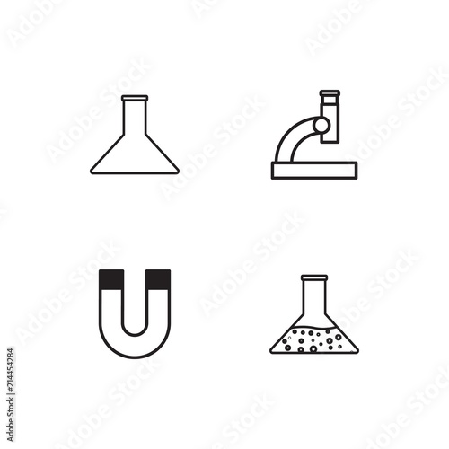 Fotografie, Tablou  Science linear icons set. Simple outline vector icons