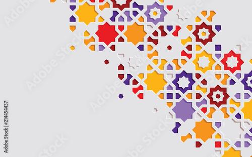 Valokuva Arabic arabesque design greeting card for Ramadan Kareem