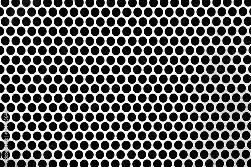 Fotografia, Obraz  Perforated steel sheets with round hole perforations backgrounds
