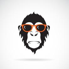 Vector Of Monkey Head Wearing ...