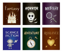 Story Book Set - Fantasy, Horror, Mystery, Science Fiction, Adventure And Romance Genre