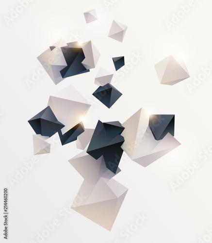 Okleiny na drzwi - przestrzenne 3D  abstract-colorful-background-with-geometric-elements