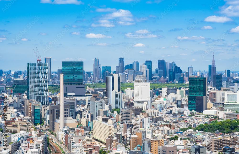 Fototapeta 東京都市風景 渋谷・新宿周辺