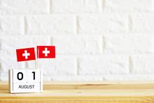 AUGUST 01 Wooden Calendar Flag...