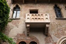 Verona, Romeo Und Julia Balkon In Der Altstadt, Iatalien