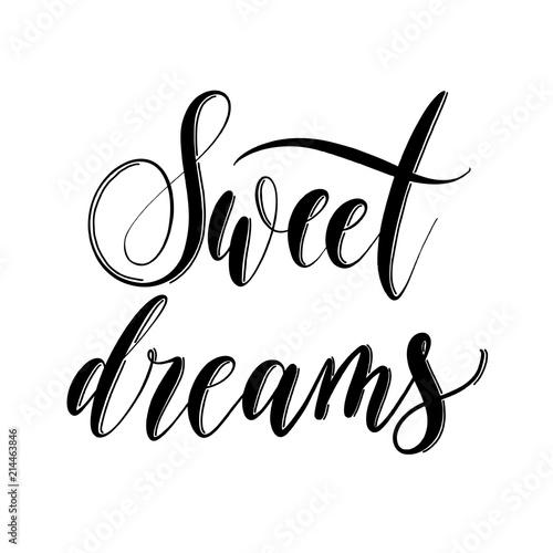 Pinturas sobre lienzo  Sweet dreams - hand drawn lettering inscription  for decor, print, textile vector