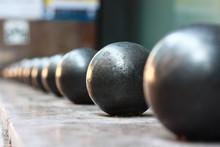 Steel Balls In A Row,