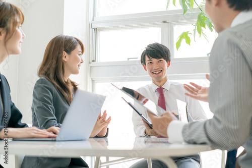 Obraz ビジネス・会議 - fototapety do salonu