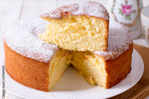 Photo Homemade sponge cake