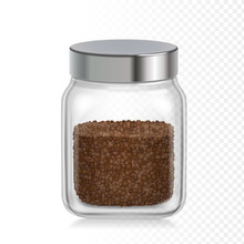 Coffee Glass Jar Icon. Instant...