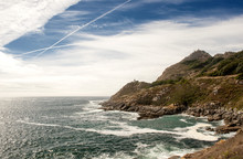 Südspitze  Isla De Montefaro Punta Do Canaval, Alto De Montefaro, Islas Cies Im Parque Nacional De Las Islas Atlánticas De Galicia, Provinz Pontevedra, Rias Bajas, Galicien, Spanien