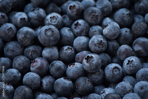 Valokuva Arrangement blueberries for fruit background